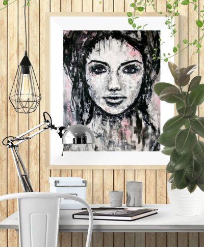 Female-portrait-art-print-Imperfection-kate-fisher